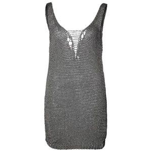 Diesel Dresses - DIESEL DeVamp Knit Dress Low Back Grey EUC
